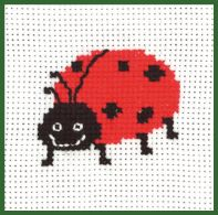 click here to view larger image of Ladybug - My First Kit (counted cross stitch kit)