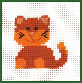 click here to view larger image of Cat - My First Kit (counted cross stitch kit)