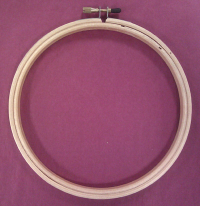 click here to view larger image of Wood Embroidery Hoop - 6 in (accessory)