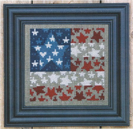 click here to view larger image of Flag of Stars (counted cross stitch kit)