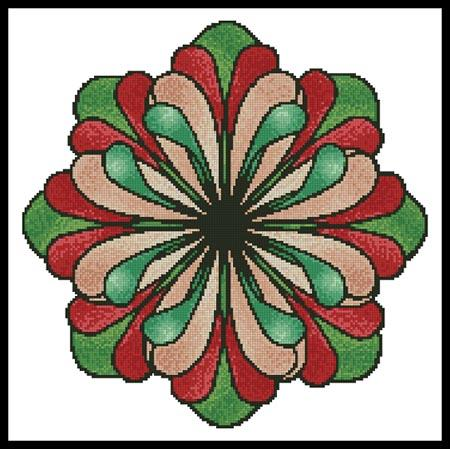 click here to view larger image of Stained Glass Flower (chart)
