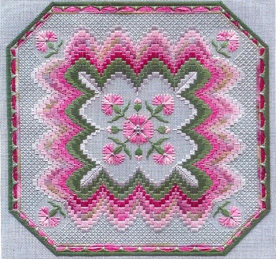 click here to view larger image of Bargello and Carnations (counted canvas chart)