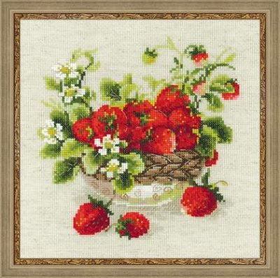 click here to view larger image of Garden Strawberry (counted cross stitch kit)