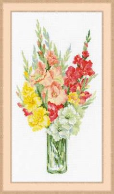 click here to view larger image of Bouquet of Gladioli (counted cross stitch kit)