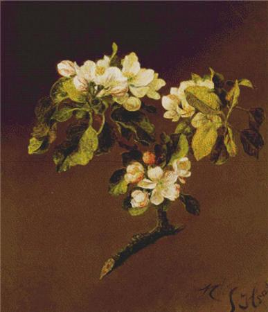 click here to view larger image of Spray of Apple Blossoms, A (chart)