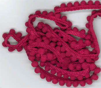 click here to view larger image of Raspberry Pearls - 1 yard (fiber)