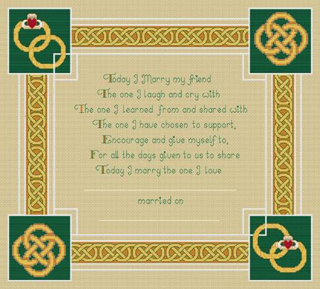click here to view larger image of Celtic Wedding Memory (chart)