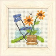 click here to view larger image of Blue Chair - Mini Kit (counted cross stitch kit)