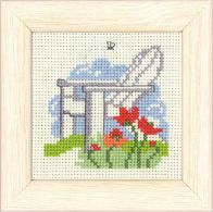 click here to view larger image of Garden Chair Mini Kit (counted cross stitch kit)