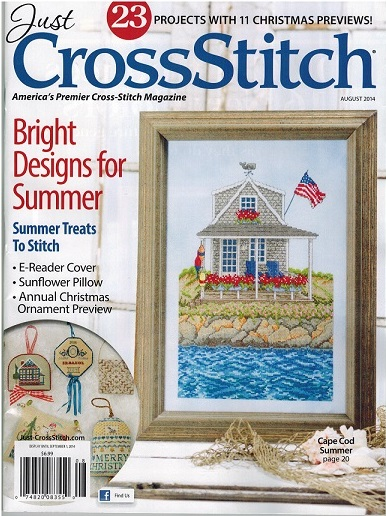 click here to view larger image of Just Cross Stitch - August 2014 (magazines)