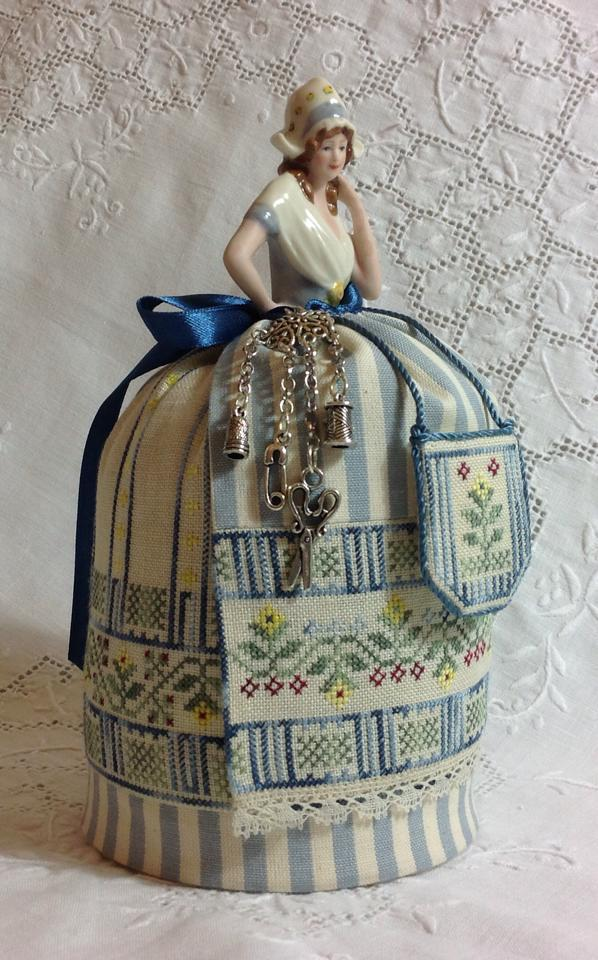 click here to view larger image of Grethel - A Dutch Maiden Pincushion Doll (chart with charms/buttons)