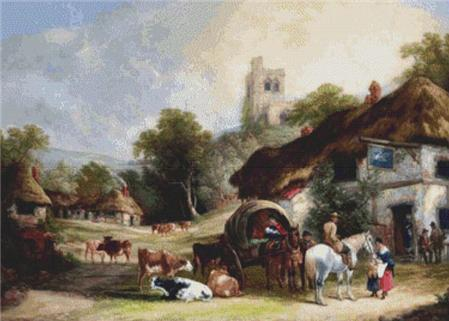 click here to view larger image of English Country Village (chart)