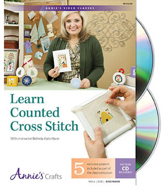 click here to view larger image of Learn Counted Cross Stitch (DVD) (DVD)