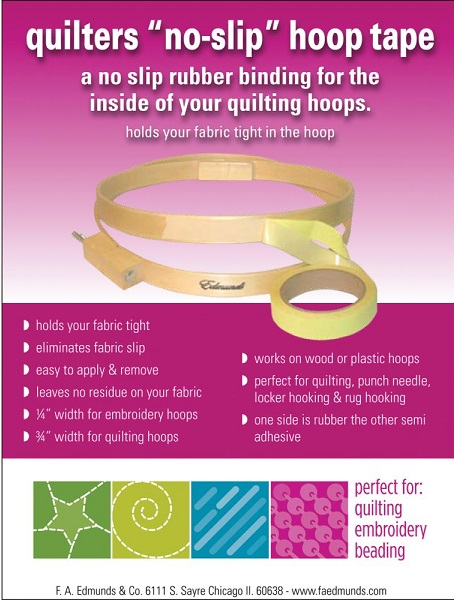 click here to view larger image of No-Slip Hoop Tape .75 in X 3 yd (accessory)