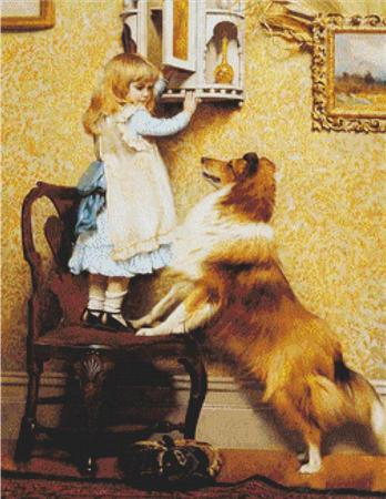 click here to view larger image of A Little Girl and Her Sheltie (chart)