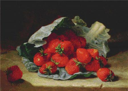 click here to view larger image of Strawberries on a Cabbage Leaf  (Eloise Harriet Stannard) (chart)