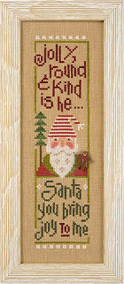 click here to view larger image of Jolly Round and Kind - Santa '14 Snippet (chart)