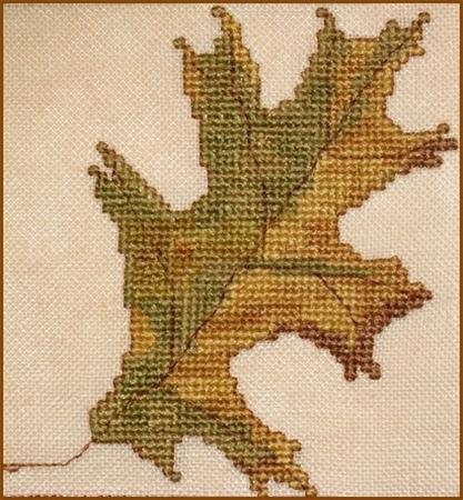 click here to view larger image of Autumn Leaves Quilt Block - M (chart)