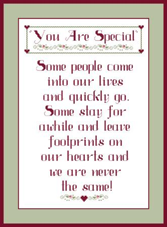 click here to view larger image of You Are Special Sampler (chart)