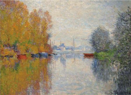 click here to view larger image of Autumn on the Seine at Argenteuil (chart)