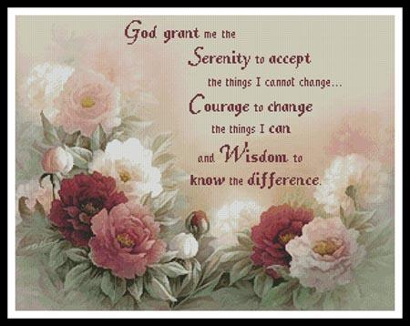 click here to view larger image of Floral Serenity Prayer - Artecy (chart)