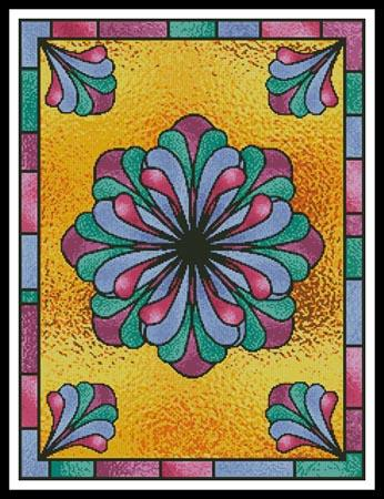 click here to view larger image of Stained Glass Floral 1 (chart)