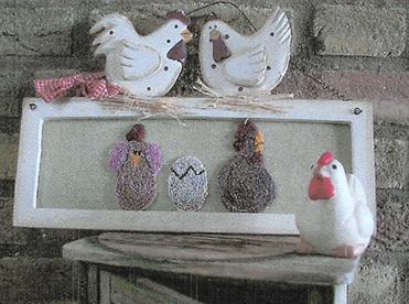 click here to view larger image of Chicken Flock, The (Punchneedle) (Punchneedle)