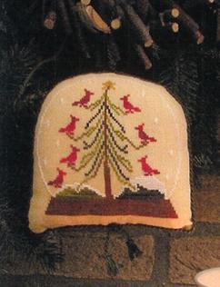 click here to view larger image of Birdies Christmas - Snowglobe Ornament 2010 (chart)