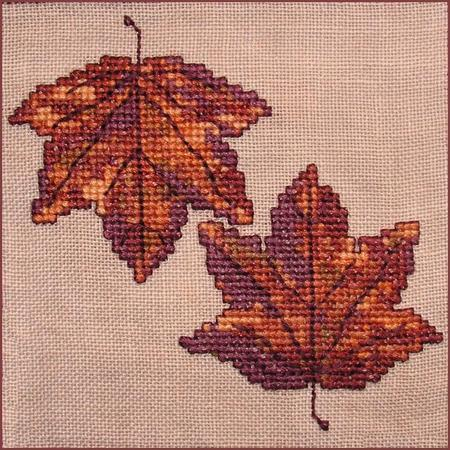 click here to view larger image of Autumn Leaves Wall Quilt Block E (chart)