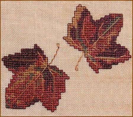 click here to view larger image of Autumn Leaves Wall Quilt Block H (chart)