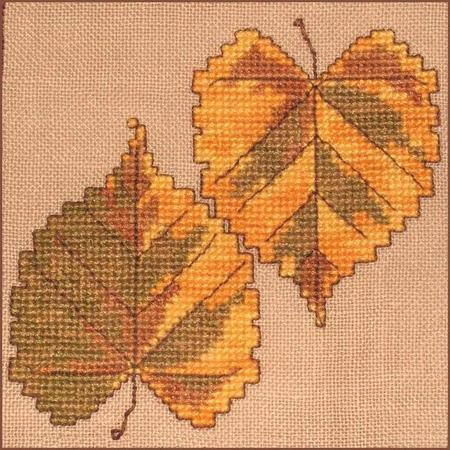click here to view larger image of Autumn Leaves Wall Quilt Block A (chart)