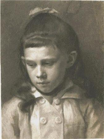 click here to view larger image of Portrait of a Girl, Head Slightly Turned Left (chart)