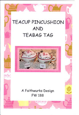 click here to view larger image of Teacup Pincushion and Teabag Tag (chart)