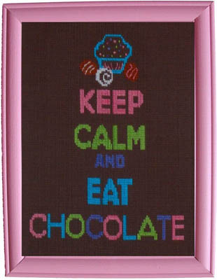 click here to view larger image of Keep Calm and Eat Chocolate (chart)