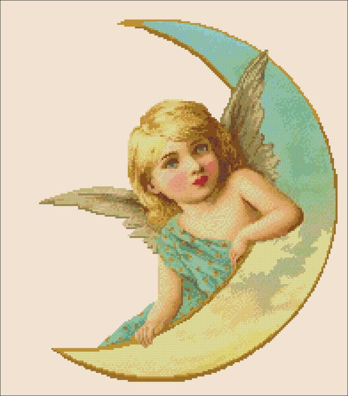 click here to view larger image of Vintage Moon Angel (chart)