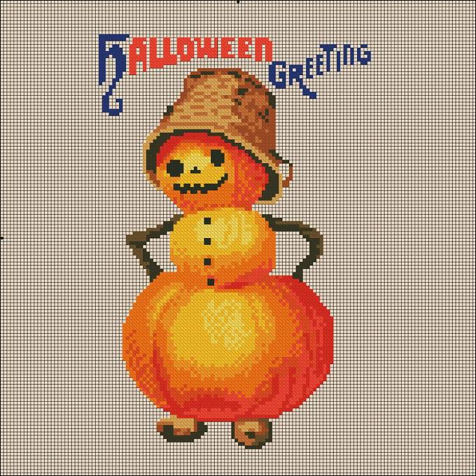 click here to view larger image of Pumpkin Snowman (chart)