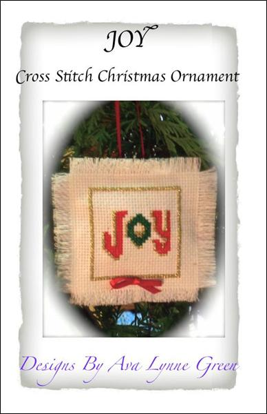click here to view larger image of Joy Christmas Ornament (chart)