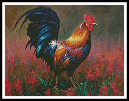 click here to view larger image of Colourful Rooster (chart)