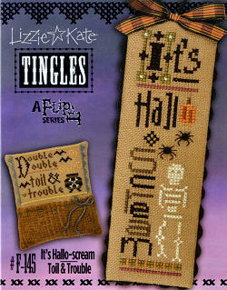 click here to view larger image of Tingles Flip-It - Its Hallo-scream / Toil and Trouble (chart with charms/buttons)