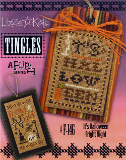 click here to view larger image of Tingles Flip-It - Its Halloween / Fright Night (chart with charms/buttons)