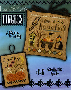 click here to view larger image of Tingles Flip-It - Gone Haunting / Spooky (chart with charms/buttons)