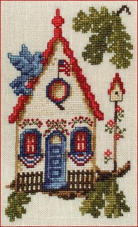 click here to view larger image of Patriotic Bird House (chart)