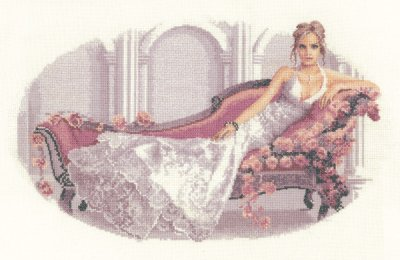 click here to view larger image of Abbi - Elegance by John Clayton (14ct) (counted cross stitch kit)