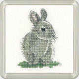 click here to view larger image of Baby Rabbit - Little Friends coaster kit (counted cross stitch kit)