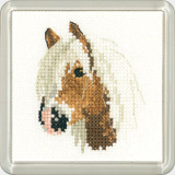 click here to view larger image of Palomino Pony - Little Friends Coaster Kit (counted cross stitch kit)