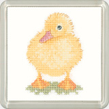 click here to view larger image of Duckling - Little Friends Coaster Kit (counted cross stitch kit)