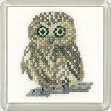click here to view larger image of Owl - Little Friends Coaster Kit (counted cross stitch kit)