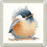 click here to view larger image of Chickadee - Little Friends Coaster Kit (counted cross stitch kit)