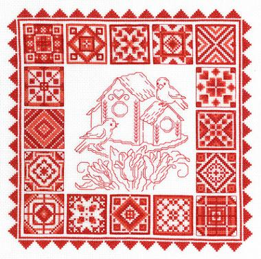 click here to view larger image of Redwork Quilt (chart)