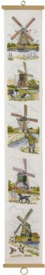 click here to view larger image of Windmill Bellpull (counted cross stitch kit)
